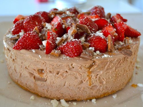 Chocolate mousse cheesecake___