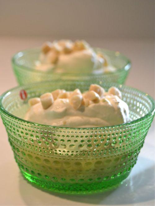 Päron med calvados, ingefära och vanilj